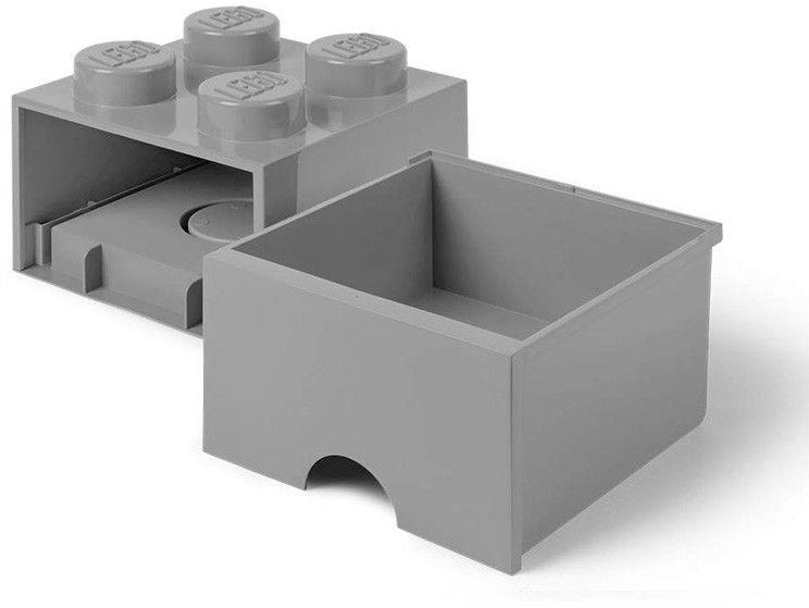Szuflada klocek LEGO Brick 4 Szary 40051740