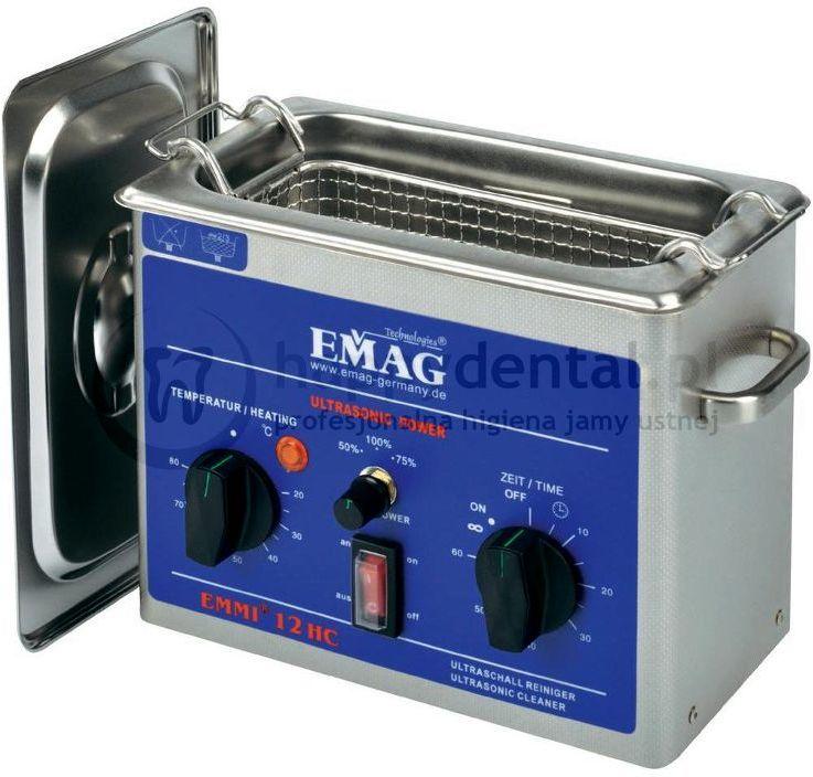 """EMAG EMMI 12HC - myjka ultradźwiękowa nowej generacji z serii """"HC"""" z podgrzewaniem i regulacją mocy"""