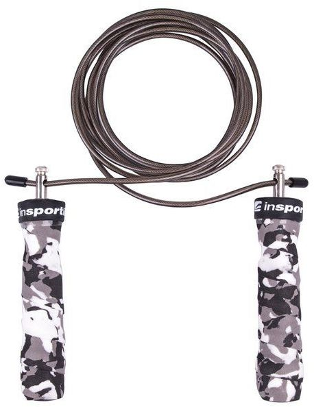 Skakanka regulowana łożyskowana stalowa 300 cm Jumpkamu White camu Insportline
