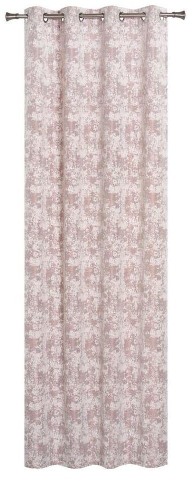 Zasłona Nobile różowa 140 x 260 cm na przelotkach