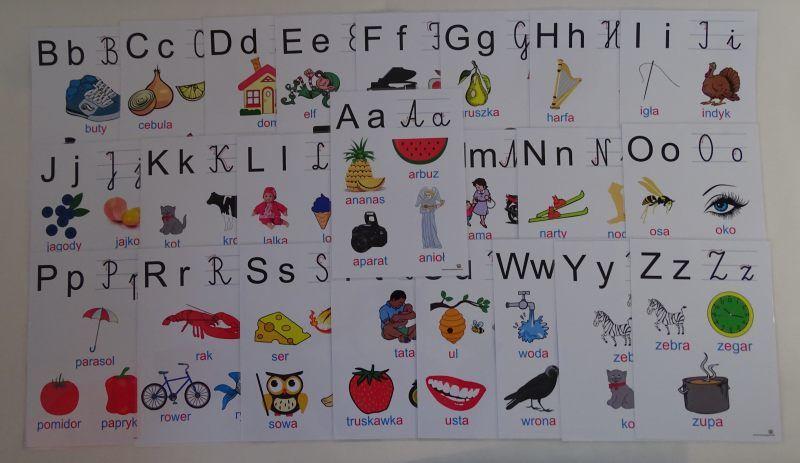 Alfabet - kolorowe obrazki