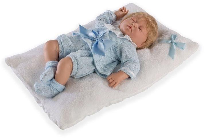Lalka hiszpańska chłopczyk Cris w niebieskim komplecie - 38 cm