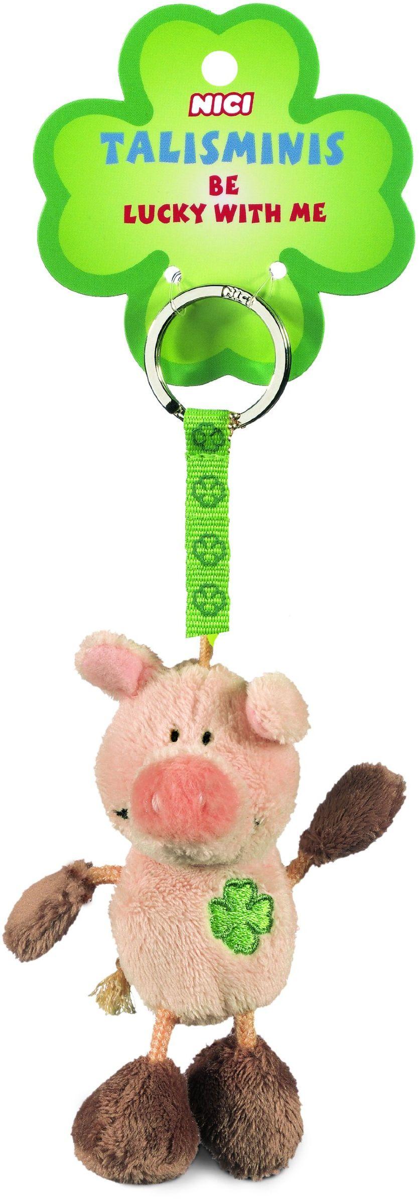Nici Talismini 33688 świnia worek do kluczy 7 cm różowy i brązowy