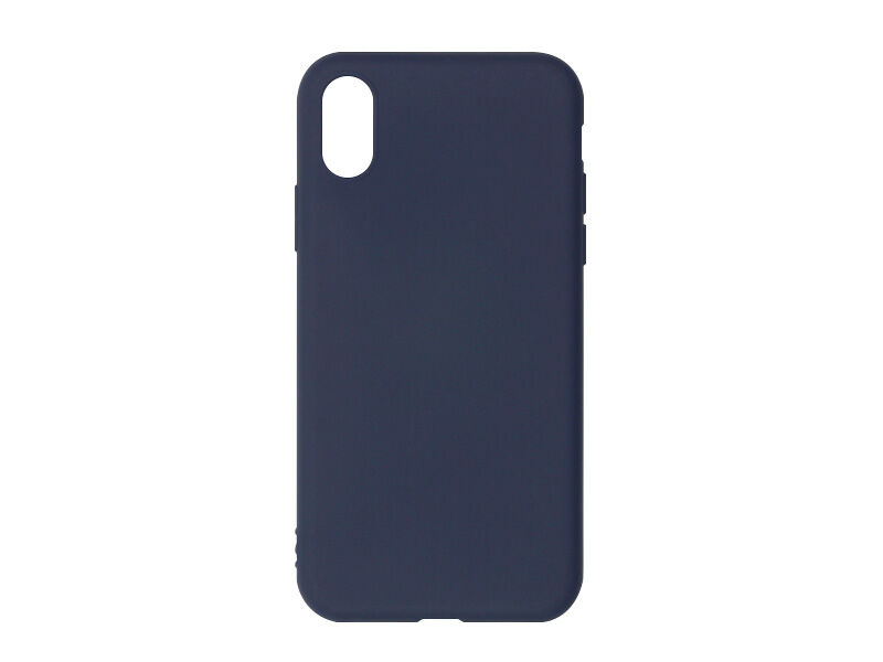 Apple iPhone X - etui na telefon Soft Flex - granatowy