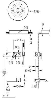 3V Tres podtynkowy zestaw wannowo natryskowy chrom - 210.273.11