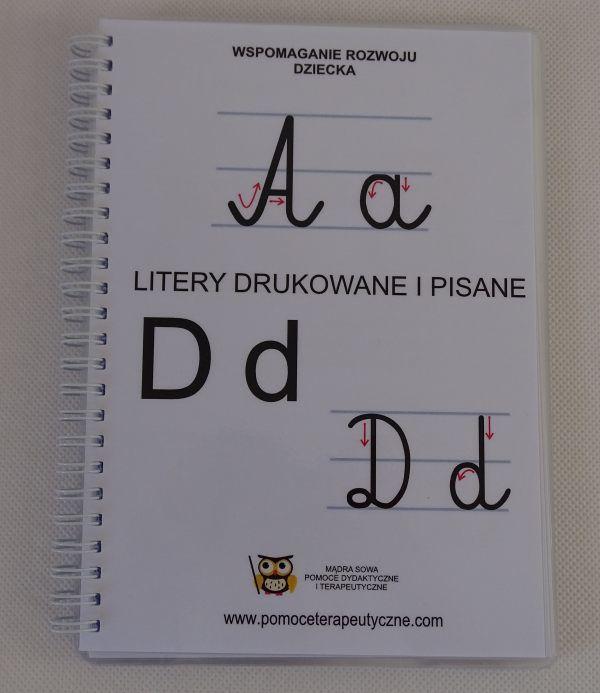 Książka - litery pisane i drukowane A5