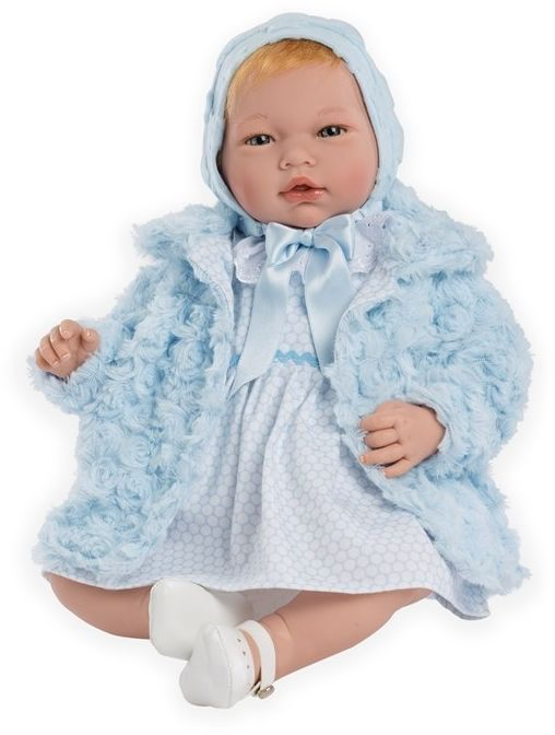 Hiszpańska lalka bobas Reborn Cayetana - 46 cm