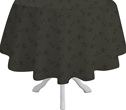 Comptoir du Linge csi07004 okrągły obrus/poliester/tkanina bawełniana / teflonowa średnica 180 cm antracyt