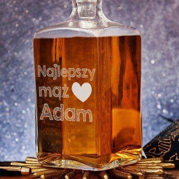 Najlepszy mąż - grawerowana karafka do whisky