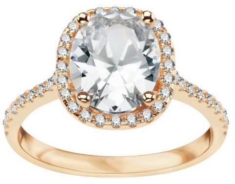 Złoty pierścionek - Cyrkonia