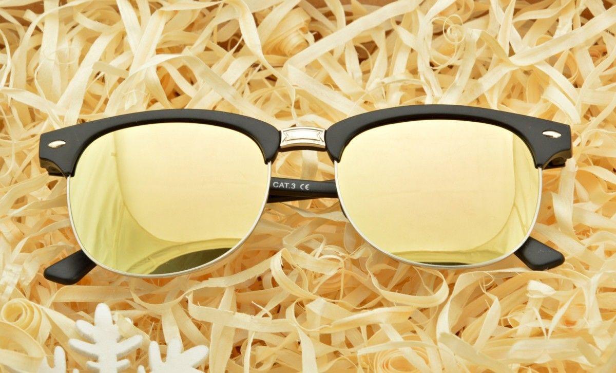 Półramki Okulary Przeciwsłoneczne Lustrzane 2855