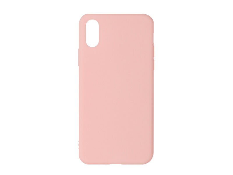 Apple iPhone X - etui na telefon Soft Flex - różowy