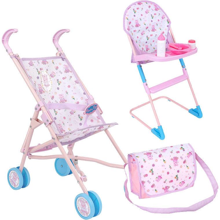 Świnka Peppa - Zestaw spacerówka + krzesełko do karmienia 1423628