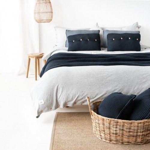 Poduszka z guzikami antracytowa