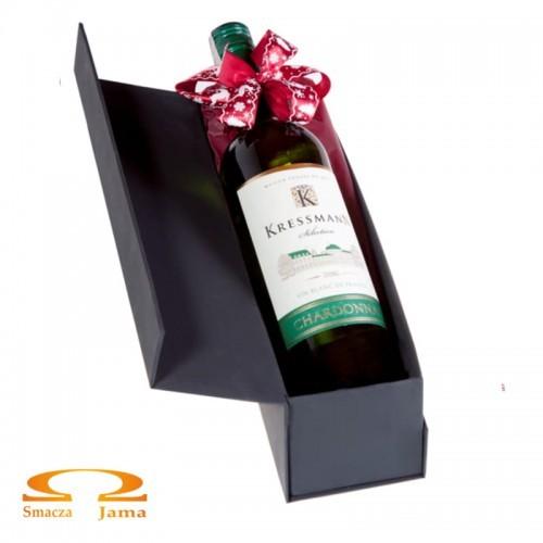 Zestaw Wino Kressmann Selection Chardonnay Francja 0,75l w ozdobnym pudełku