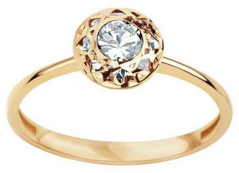 Złoty pierścionek PZC5862 - Cyrkonia
