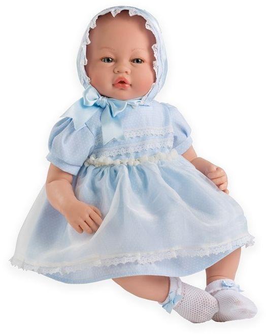 Lalka bobas dziewczynka Vera w niebieskiej sukience - 46 cm