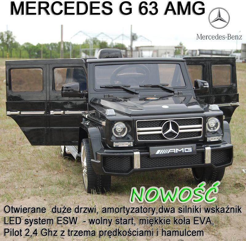 MERCEDES G63 AMG DWA SILNIKI, OTWIERA DRZWI, MOCNY MIĘKKIE KOŁA, SYSTEM ESW/HL168