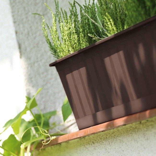 Skrzynka balkonowa Prosperplast Agro 80 cm brązowa