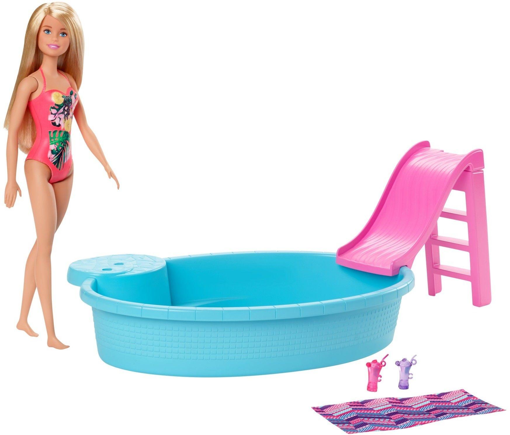 Barbie - Basen + lalka GHL91