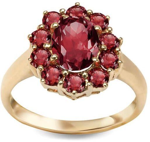 Złoty pierścionek PZG5086 - Granat