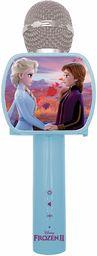 LEXIBOOK MIC240FZ Frozen 2 Elsa Anna Olaf mikrofon Bluetooth z funkcją zmieniania głosu, uchwyt na telefon w zestawie, wbudowany głośnik, niebieski