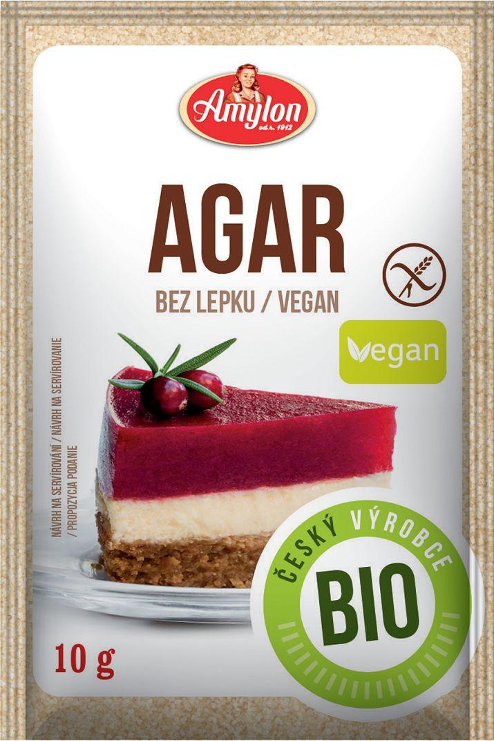 Agar - agar bezglutenowy bio 10 g - amylon