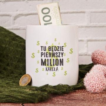 Pierwszy milion - Skarbonka Personalizowana