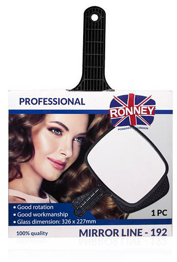 Ronney Profesjonalne lusterko z rączką Mirror Line  192 Model RA 00192 1 szt.
