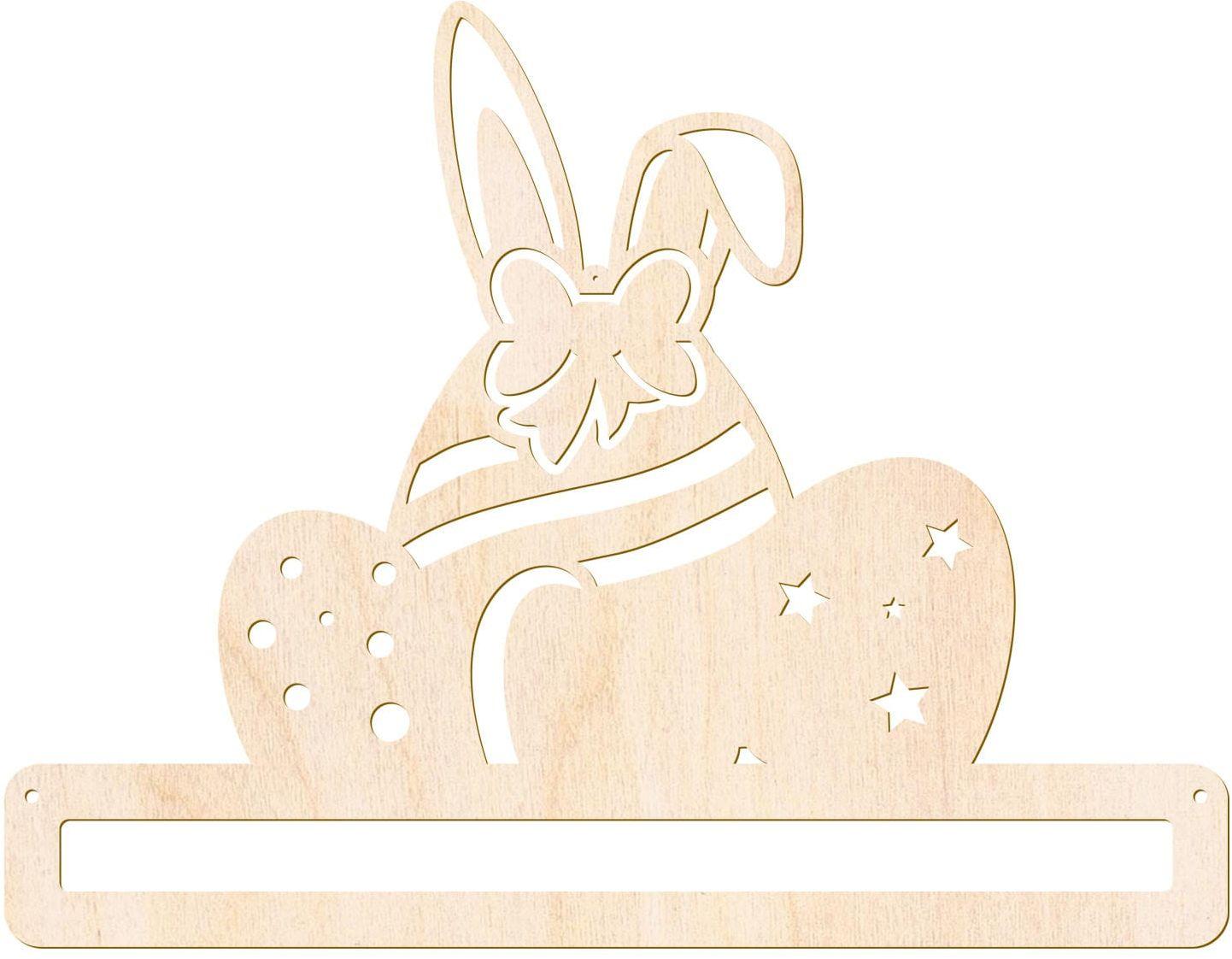 Zawieszka drewniana Zając z jajkami - łapacz snów - 33 cm - 1 szt.