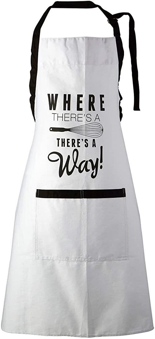 Premier Housewares Pun and Game Fartuchy kuchenne dla kobiet mężczyzn fartuch do pieczenia dla kobiet biały/czarny bawełniany fartuch fartuchy kuchenne fartuch damski 87 x 69