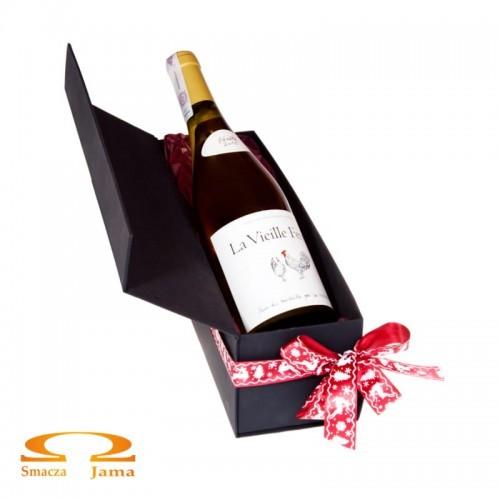 Zestaw Wino La Vieille Ferme Cotes du Ventoux Rouge Francja 0,75l w ozdobnym pudełku