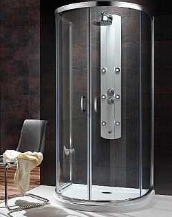 Kabina prysznicowa przyścienna półokrągła Radaway Premium Plus P 100x90 szkło Brązowe wys. 190 cm. 33300-01-08N