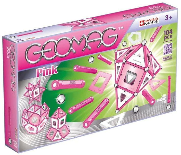 Geomag - Klocki magnetyczne - Kids Pink 104 el. 344