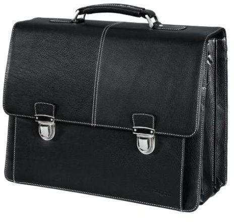 bugatti Torba na notebooka aktówka L 39,1 cm (15,4 cala), czarna