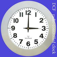 Zegar szeroka ramka sterowany radiowo