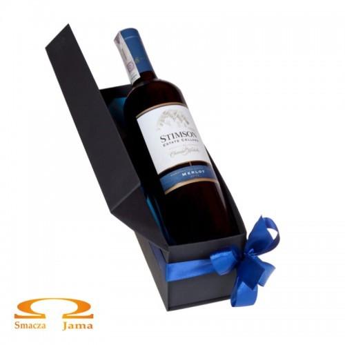 Zestaw Wino Stimson Cellars Merlot USA 0,75l w ozdobnym pudełku