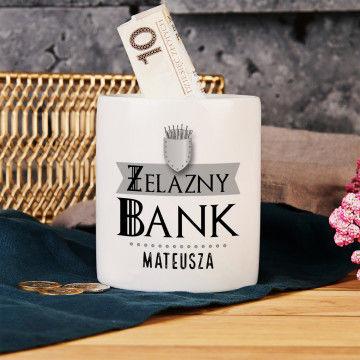 Żelazny bank - Skarbonka Personalizowana