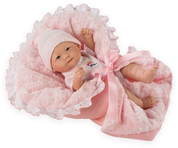 Hiszpańska lalka bobas Nina w beciku - 25 cm
