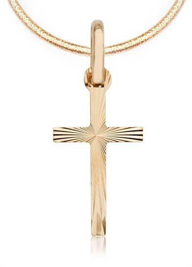 Złoty krzyżyk uniseks damski męski