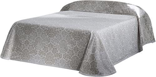 Eysa 200 cm 60 poliester 30 bawełna 10 procent len Barroque narzuta na łóżko, Ecru 11, 200