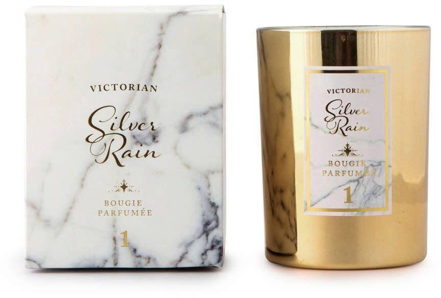 Victorian - marble - świeca zapachowa - silver rain: roślinność liściasta i cyklamen