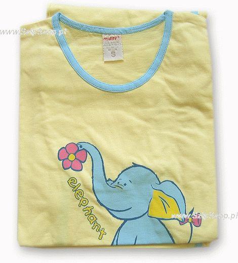 Piżamka Muzzy żółta ze słonikiem
