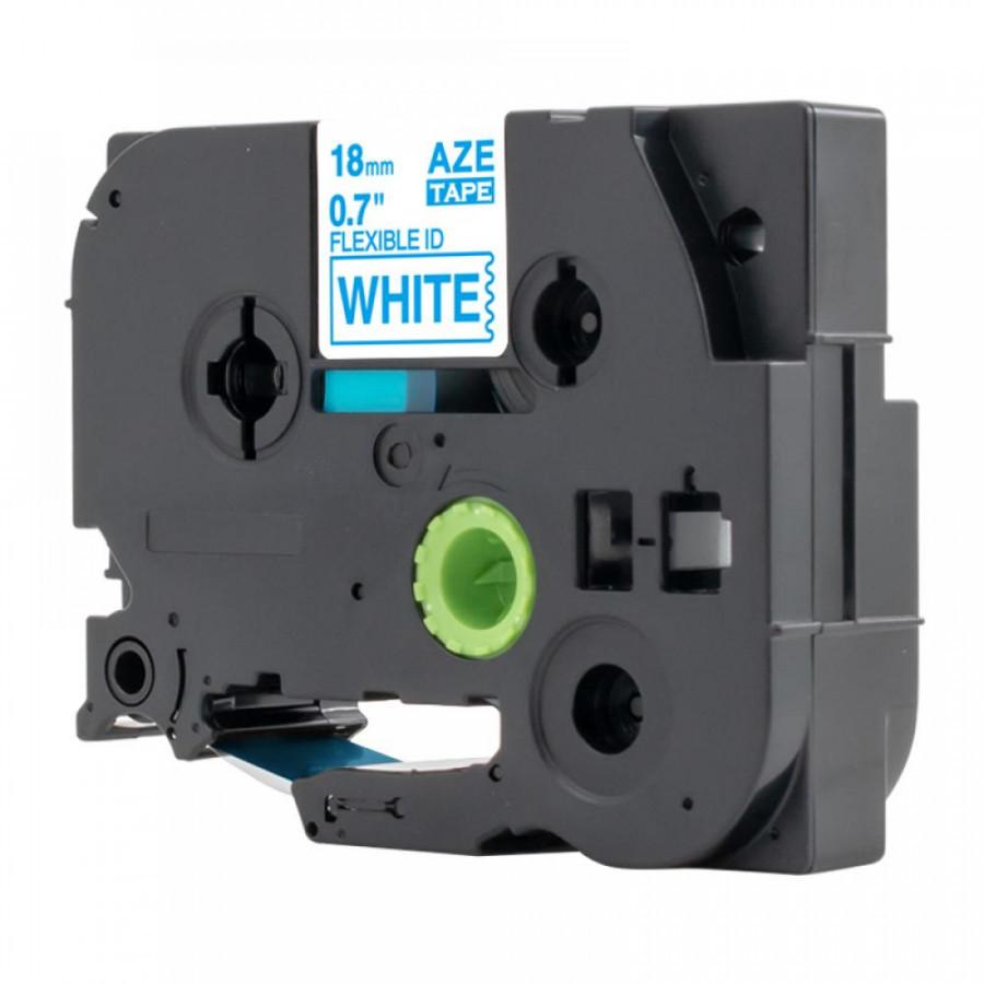 Taśma zamiennik Brother TZ-FX243 / TZe-FX243, 18mm x 8m, flexi, niebieski druk / biały podkład