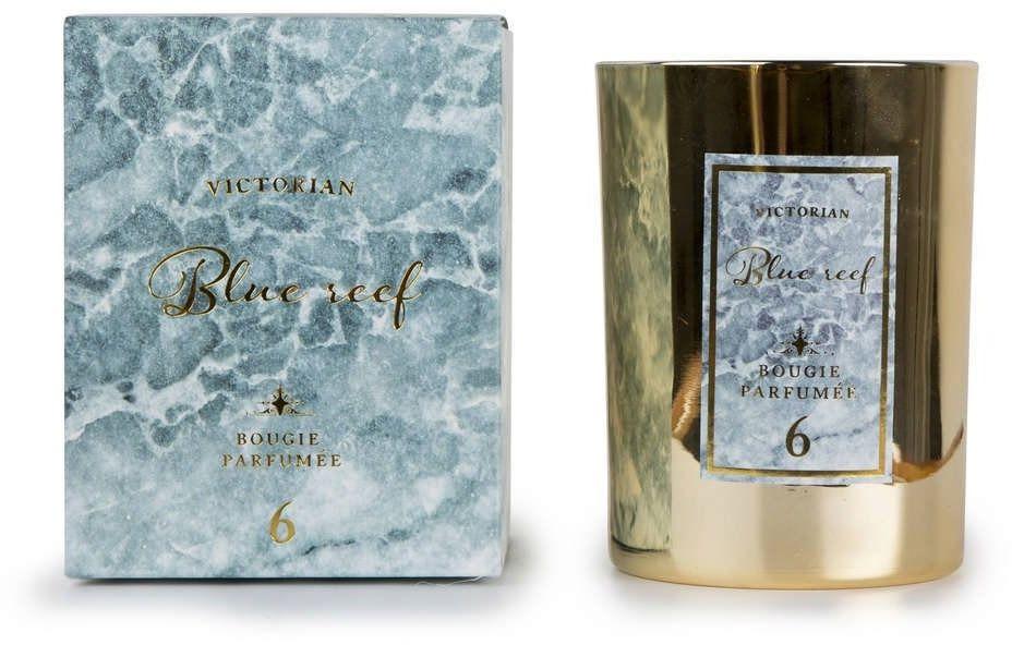 Victorian - marble - świeca zapachowa - blue reef: ananas i kwiat lotosu