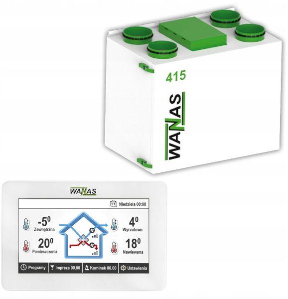 Rekuperator Wanas 415v BASIC + montaż