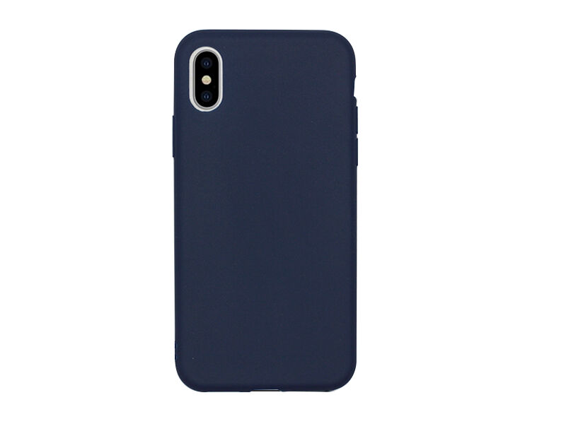 Apple iPhone XS - etui na telefon Soft Flex - granatowy