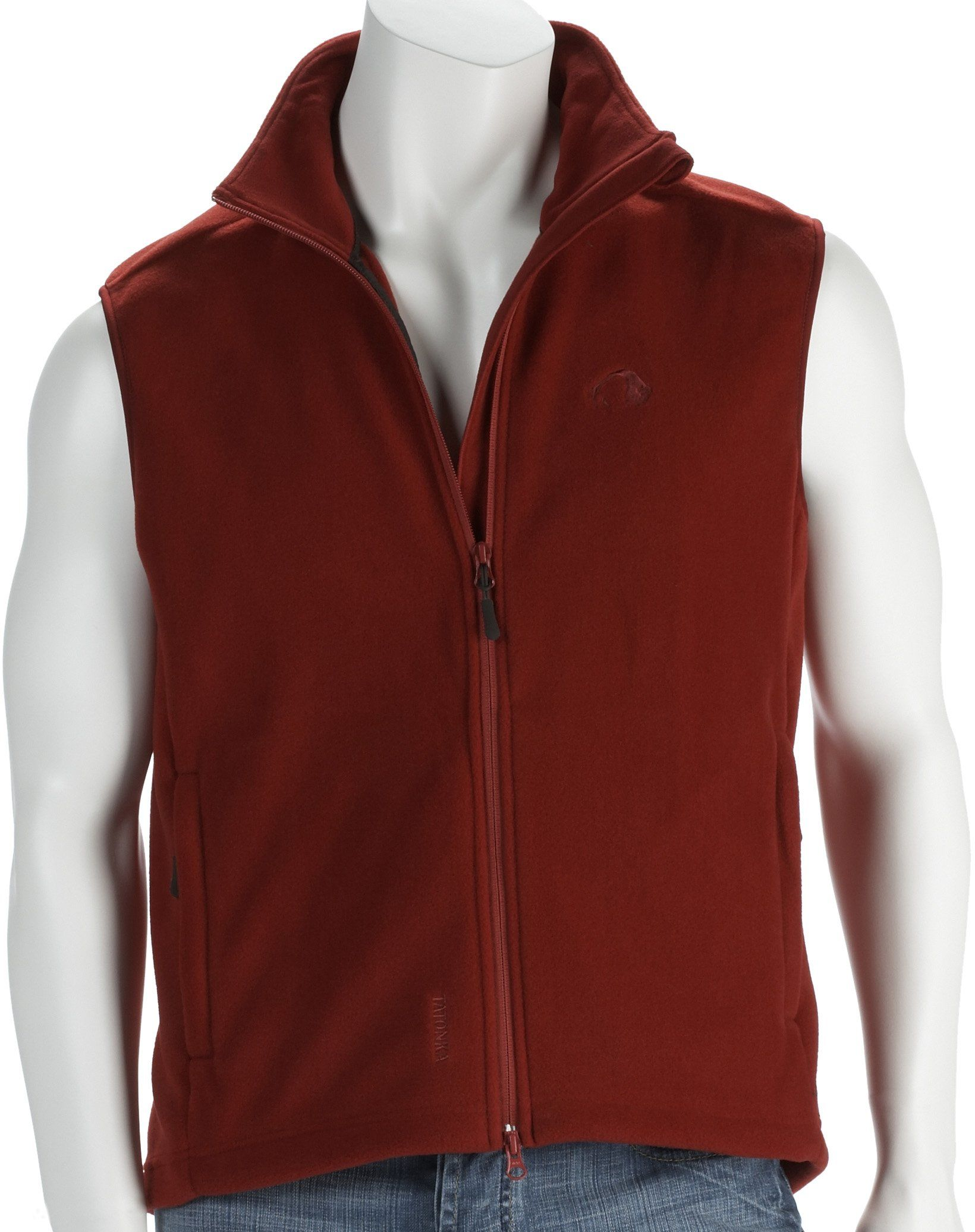 "Tatonka Essential męska kamizelka polarowa""Beaver Vest"", Gre S, strawberry"