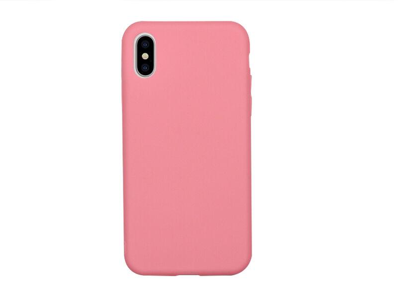 Apple iPhone XS - etui na telefon Soft Flex - różowy