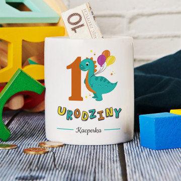 Urodziny dinozaur - Skarbonka Personalizowana